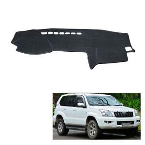 Color : All Black, Size : Wheel on the left JJJJD Dashboard Cover Protective Pad For Toyota Land Cruiser Prado J120 120 2003~2009 Car Accessories Dash Board Sunshade Carpet 2008