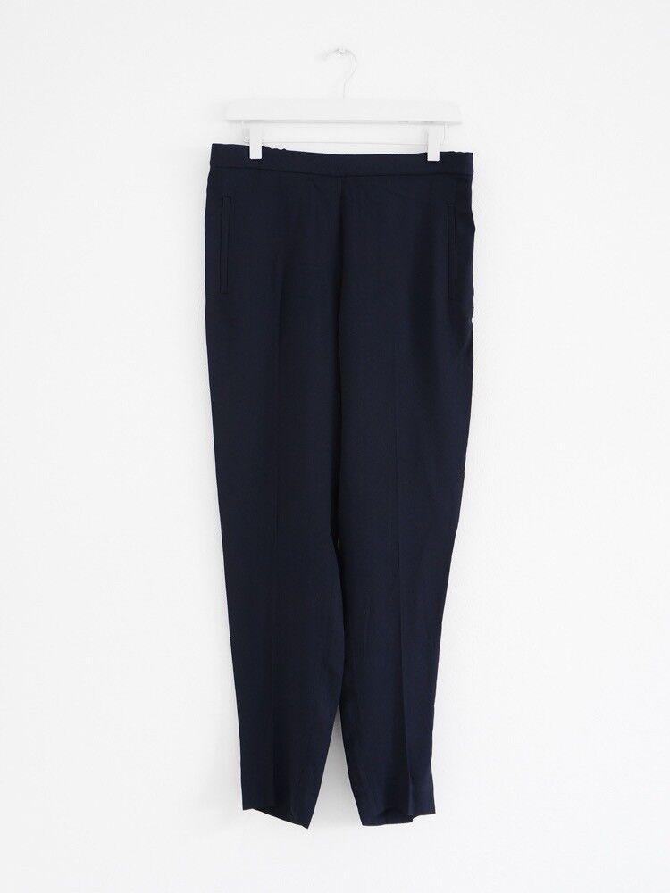 HOF115 COS Hose dunkelblau crepe viscose   Elastic waist trousers navy 38 UK 12 | Große Auswahl