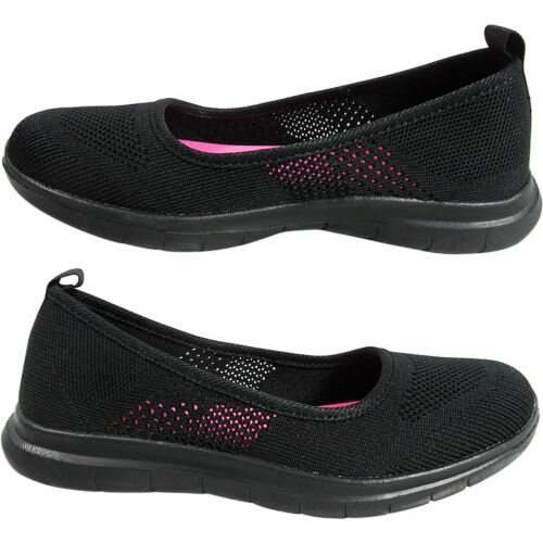 Débardeur femme compensés bas mousse à mémoire à Enfiler Escarpins Baskets Chaussures De Marche Taille aller