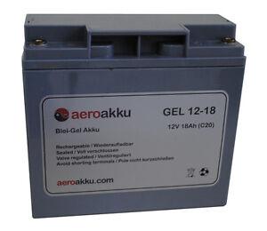 Aeroakku gel 12v 18ah verdadero gel batería vela vuelo batería batería Backup  </span>