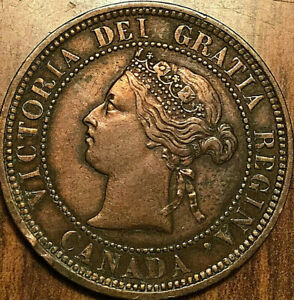 1881H-CANADA-LARGE-CENT-LARGE-1-CENT-PENNY-Fantastic-example