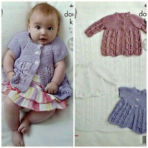 KNITTING PATTERN Baby Cardigan Matinee Coats and Blanket Cottonsoft DK 4431