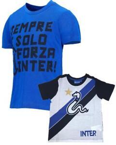 aspetto dettagliato e5cf0 25e06 Dettagli su T-Shirt Bimbo Inter Abbigliamento Ufficiale Calcio FC  Internazionale PS 26739