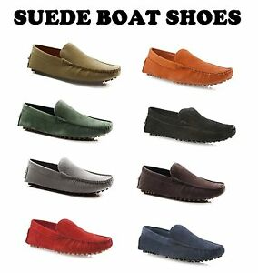 MENS-SLIP-ON-BOAT-DECK-SHOES-SUEDE-LEATHER-CASUAL-MEN-039-S-EVERYDAY-COMFY-LOAFERS