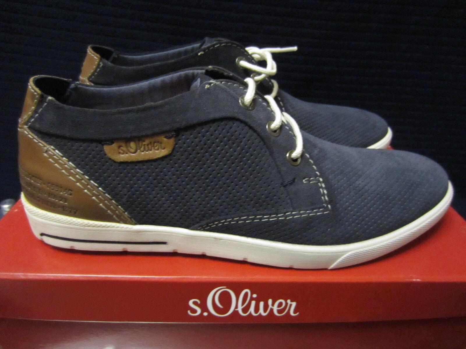 S.Oliver Blau-braun Jeans Herren Freizeit Schuhe Blau-braun S.Oliver Gr.44. Neu und OVP ac0dbc