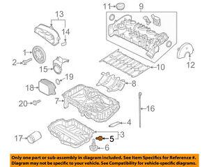 VW VOLKSWAGEN OEM 13-18 Jetta Engine Parts-Drain Plug N90288901 | eBay