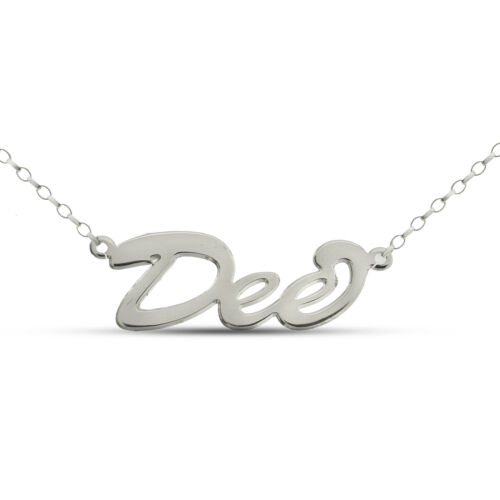 STERLING SILVER NAME CHAIN PERSONALISED WE MAKE YOUR NAME BELCHER NECKLACE BOXED