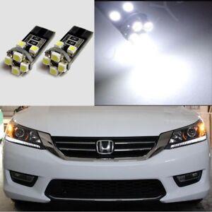 White-Headlight-Strip-DRL-LED-Light-Bulbs-for-2013-2015-Honda-Accord
