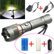 Ultrafire CREE 12000LM 5 Modes T6 LED Police Flashlight Torch Zoomble 18650