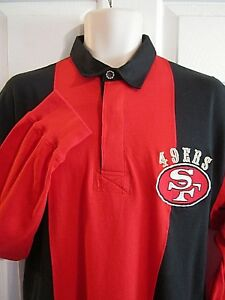 Image is loading Vintage-Mirage-San-Francisco-49ers -Embroidered-Colorblock-L-S- 05a8bb809