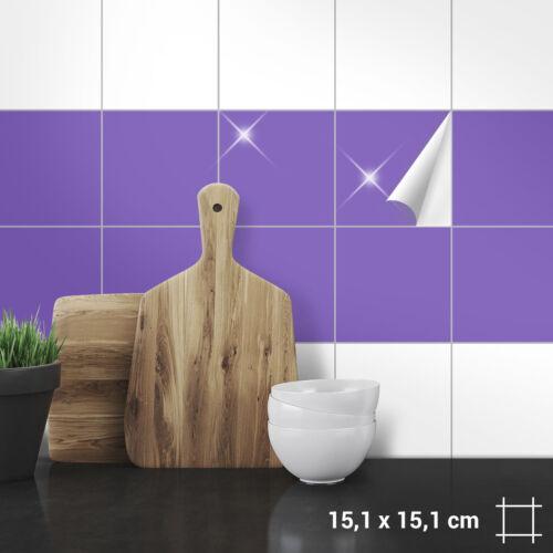 Shower Colours Matt Gloss Tile Stickers 15,1 x 15,1 cm for Kitchen Bathroom