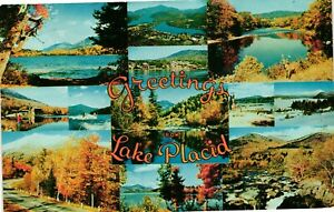 Vintage Postcard - Posted 1959 Greetings From Lake Placid New York NY #4900