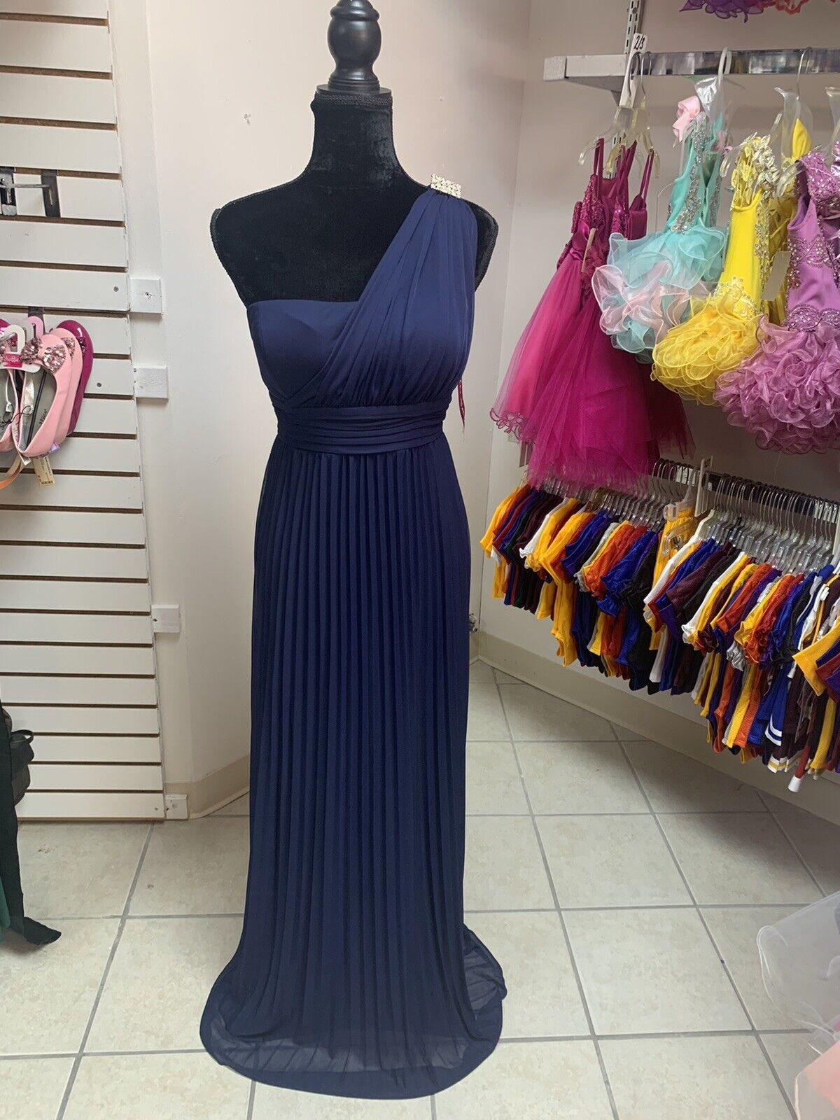 10 One Shoulder Prom Homecoming Formal Pageant Evening Gown Dress NWT