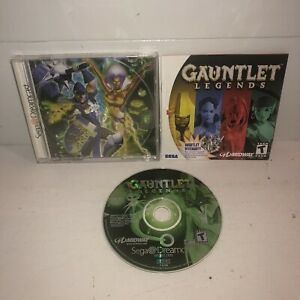 VG-COND-Gauntlet-Legends-Sega-Dreamcast-Game-Complete-CIB-TESTED-Fun-4-Player
