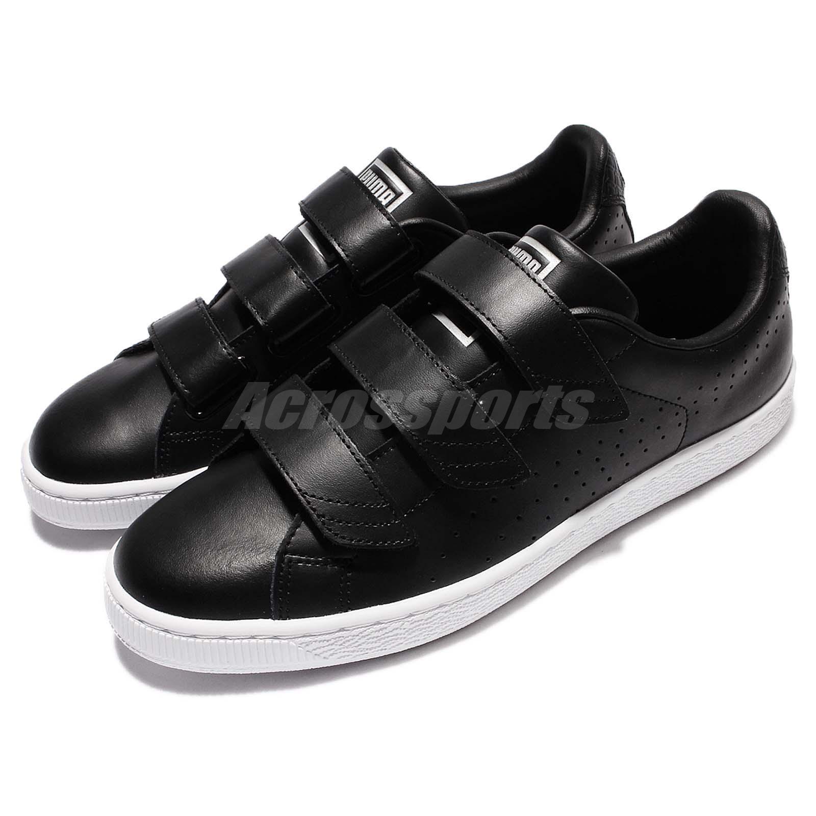 Puma Basket Classic Strap Black White Men Sports Car Casual shoes 362565-01