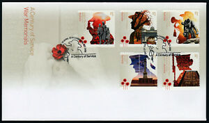 2018-Century-of-Service-War-ANZAC-S-A-FDC-First-Day-Cover-Stamps-Australia