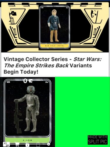 Topps Star Wars Card Trader Vintage Collector Series ESB Green 4-Lom