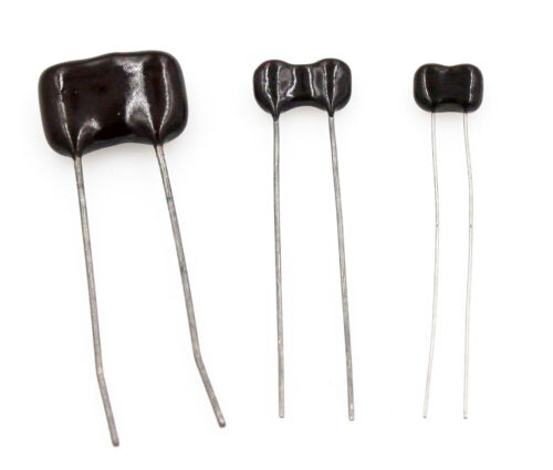 1.2pF to 1,000pF Lot of 3 Radial Dipped Silver Mica Capacitors