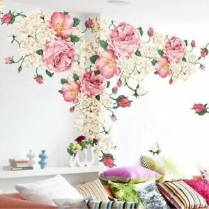 Wall-Picture-Roses-Flower-Decal-Mural-Art-Wall-Sticker-For-Home-Room-Decoration