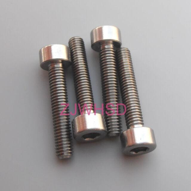 4pcs M6 x 10 Titanium Ti Screw Bolt Allen hex Socket Cap head Aerospace Grade