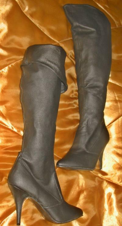 Brown Leather Knee High Boots 4