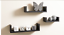 Set-of-3-U-Shape-Floating-Wall-Shelves-Storage-Display-Shelf-White-Black-Oak thumbnail 5