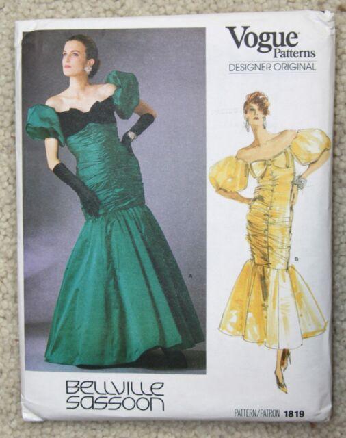 Vogue Sewing Pattern 1819 DESIGNER Original Bellville Sassoon 14 ...