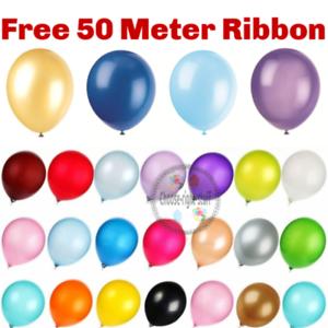 100-PCS-HELIUM-Pearlised-Latex-Balloons-12-034-Wedding-Birthday-Party-Theme-Baloons