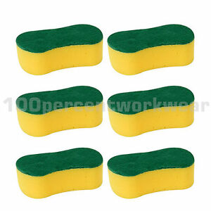 6-x-Large-Decorators-General-Purpose-Cleaning-Foam-Sponge-with-Abrasive-Back-New
