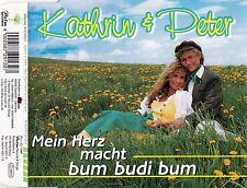 KATHRIN & PETER : MEIN HERZ MACHT BUM BUDI BUM / 3 TRACK-CD - NEU