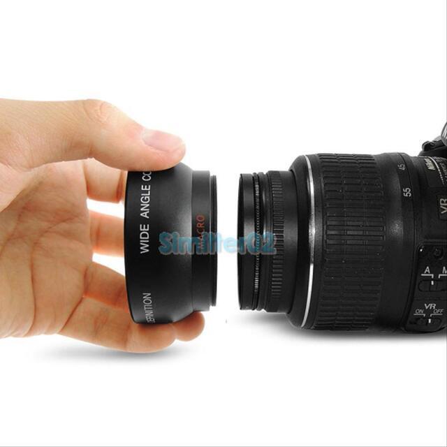 52 mm 0.45X Wide Angle Macro Lens for Nikon D3000 D3100 D5000 D5100 7000D D3200