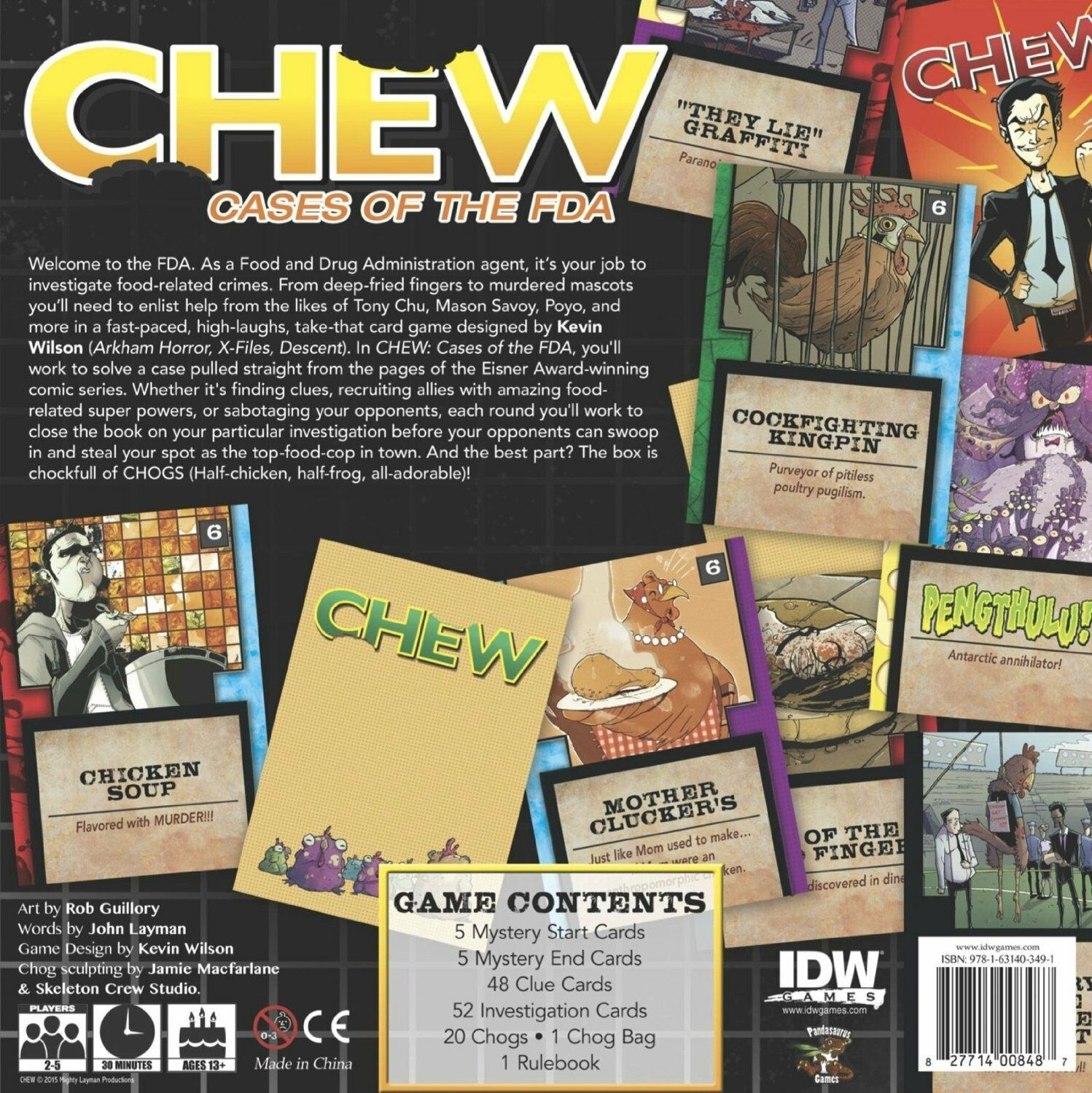 CHEW of The FDA Card Card Card Game - New 0525a9