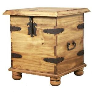 Image Is Loading Solid Natural Pine Wood Side End Table Trunk