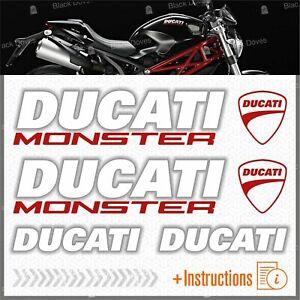 6pcs-kit-Bianco-Rosso-Adesivi-compatibile-con-Moto-Ducati-Monster-696-769