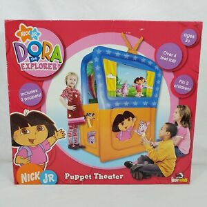 Nick-Jr-Dora-the-Explorer-Inflatable-Puppet-Theater-with-2-Puppets-NEW-in-Box