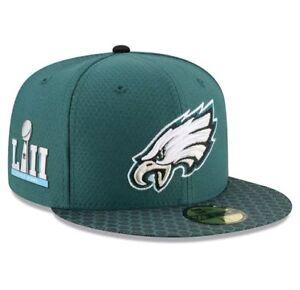 Philadelphia Eagles New Era Super Bowl LII 52 Sideline Patch 5950 ... 656ca73a8