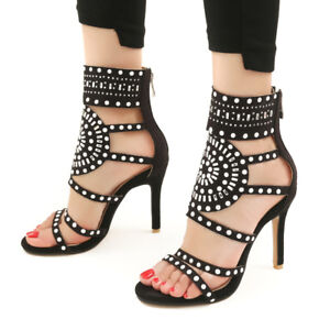 Women-Stiletto-High-Heels-Sandals-Big-Size-Lady-Shoes-Party-Rhinestone-Gladiator