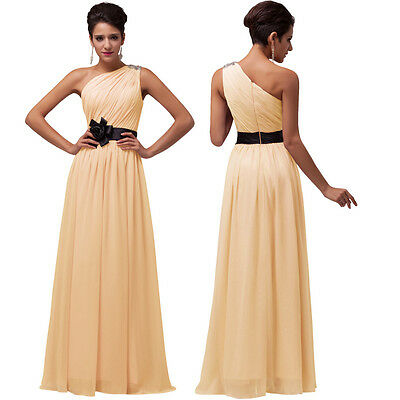 FREE SHIP Sash Evening Formal Party Ball Gown Prom Cocktail Long Dress PLUS SIZE