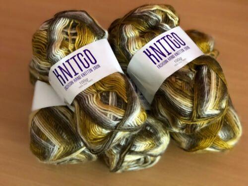 500 g Knitco marron crème panachées DK main Knitting Yarn
