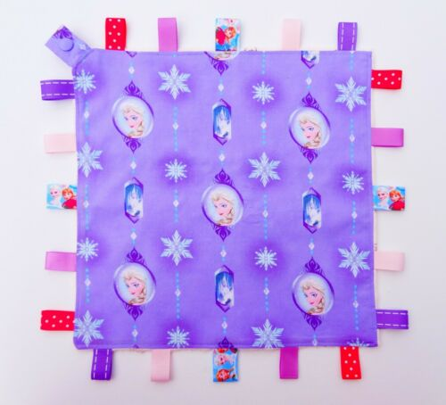 Queen Elsa Taggie Taggy Tag Security Blanket Toy Comforter dummy clip holder