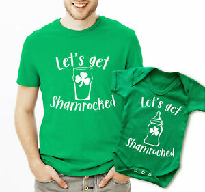 Strong-Willed Let's Get Shamrocked Irish St Patrick's Day Father T-shirt And Baby Grow Set One-pieces Baby & Toddler Clothing