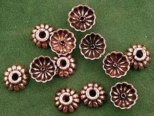 TWELVE Pure Copper 9x4 Bead Cap Casted Designer Bead