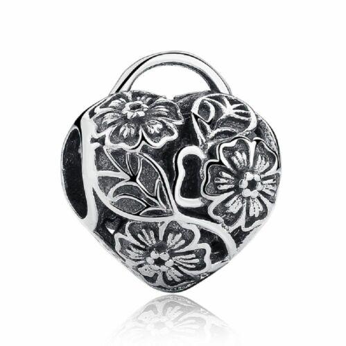 Authentic S925 Sterling Silver PS3 Charm Bead Spacer CZ Fit European Bracelet