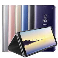 For Samsung Galaxy Note 8 Clear View Mirror Leather Flip Stand Case Cover