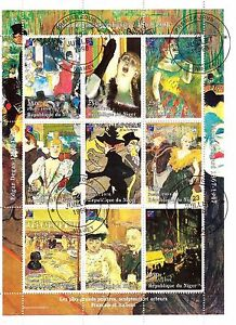 Niger-1er-Day-7-1998-All-Plus-Great-Painters-Toulouse-Lautrec-SP44