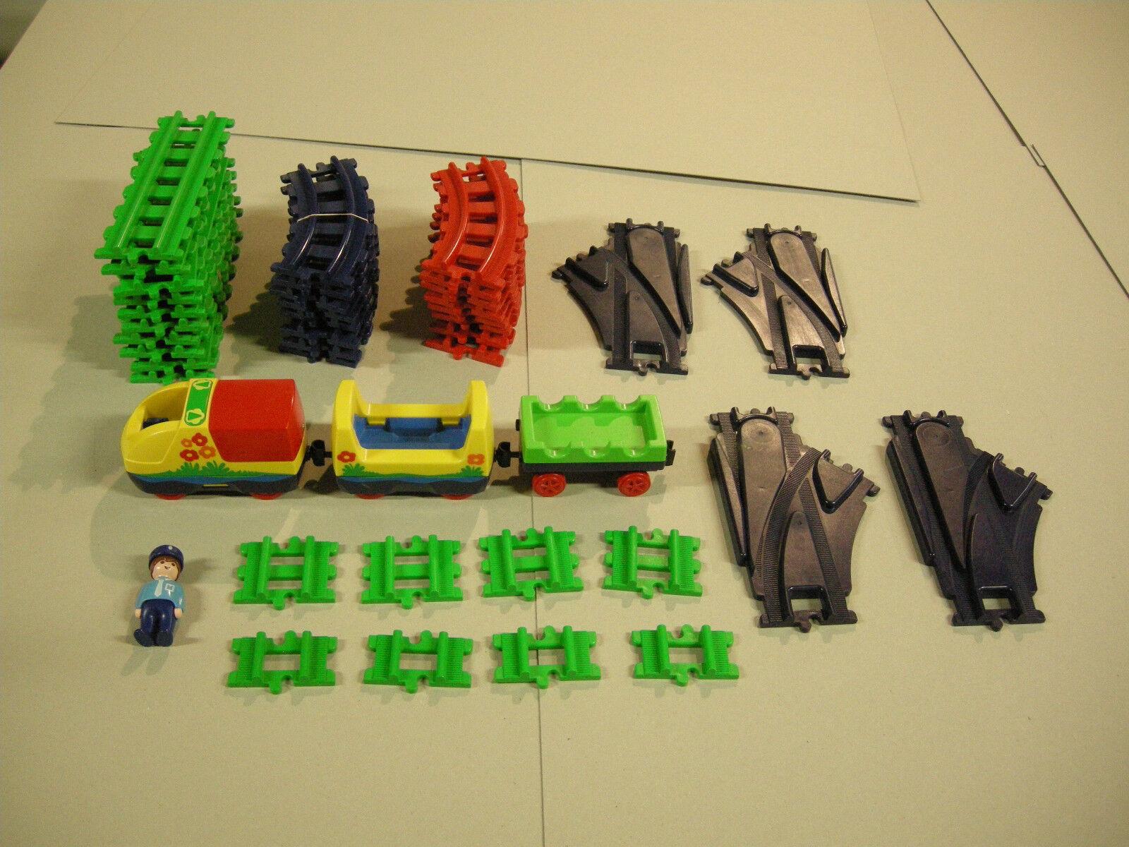 (409) Playmobil 1-2-3, elektrische Eisenbahn mit viel Zubehör