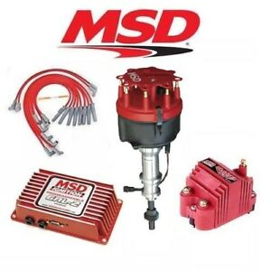 msd ignition kit programmable 6al 2 distributor wires coil ford 351c