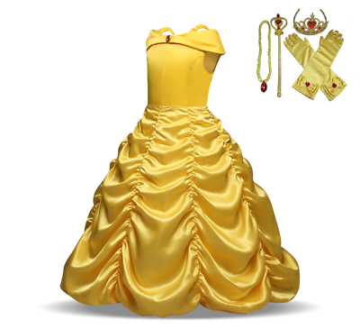Girls Children Girls Beauty And The Beast Kids Princess Belle Dress Up Set B1 Clothing, Shoes & Accessories