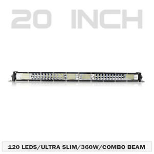 20inch-Ultra-Thin-LED-Light-Bar-Work-2-Row-Flood-Spot-Combo-Offroad-4WD-SUV-ATV