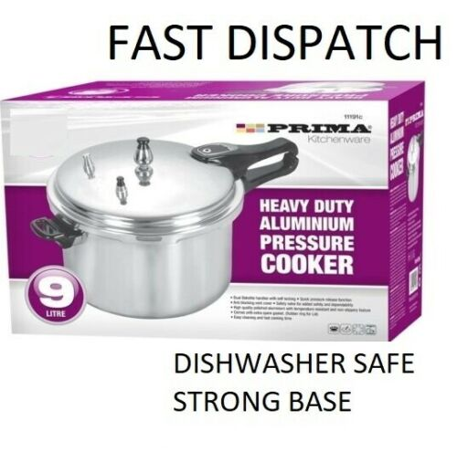 9L PRESSURE COOKER ALUMINIUM  KITCHEN CATERING HOME BRAND NEW WITH GASKET